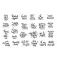 set 25 black and white hand lettering positive vector image vector image