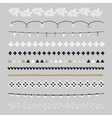Set of Christmas borders and brushes Party vector image vector image