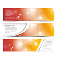 Set of hot summer horizontal banners vector image vector image