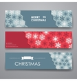 Set of modern design banner template in Christmas vector image