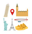 set of world monuments vector image