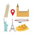 set world monuments vector image