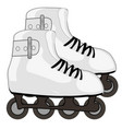 shoe with roller skates vector image