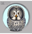 Smart grey owl cartoon series vector image
