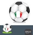 soccer ball italy euro flag vector image vector image
