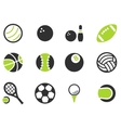 Sport balls simply icons vector image vector image
