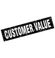 Square grunge black customer value stamp