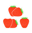 strawberry logo vector image vector image