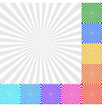 sunbeam starburst - sunburst background set 9 vector image
