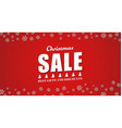Template red background for the Christmas sales vector image