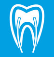 tooth cross section icon white vector image vector image