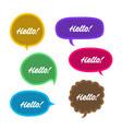 trendy speech bubbles set in flat design vector image vector image