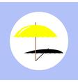 umbrella beach in circle vector image