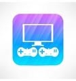 video games icon vector image vector image