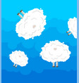 white sheep cloud in sky vector image