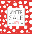 winter sale banner for online shopping with vector image vector image