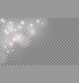 set glow light effect isolated on transparent vector image