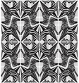 Abstract seamless zebra geometric pattern vector image