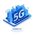 5g smart city composition vector image