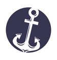 anchor maritime isolated icon vector image vector image