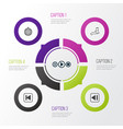 audio icons set collection of last song song ui vector image vector image