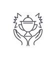 award line icon concept award linear vector image vector image