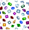 background seamless shiny gems of different cuts vector image vector image