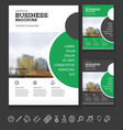 brochure cover design vector image
