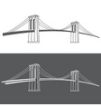 brooklyn grey2 vector image vector image