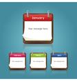 Calendar 2013 template notepad conceptual vector image vector image