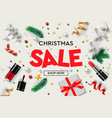 christmas sale poster template with christmas vector image vector image