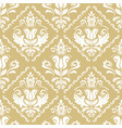 classic seamless golden and white pattern vector image vector image