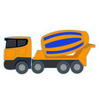 concrete mixer on white background vector image vector image