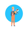 construction worker icon builder man wearing vector image vector image
