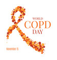 copd day ribbon poster vector image vector image