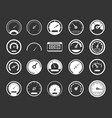dashboard icon set grey vector image