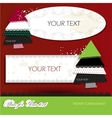 Elegant christmas background with paper bubbles vector image vector image