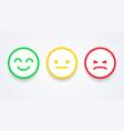 emoji user experience feedback concept vector image vector image