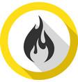 fire bonfire flame bagel shape vector image