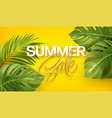 golden lettering summer sale on bright yellow vector image vector image