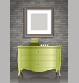 green dresser and the picture vector image vector image