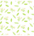 green sweet pea seamless pattern vector image