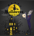 halloween backgrounds with vampire and their vector image vector image