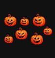 halloween sticker set vector image