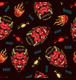 happy halloween colorful seamless pattern vector image vector image