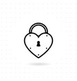 heart lock icon vector image vector image