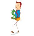holding dollar vector image vector image