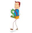holding dollar vector image