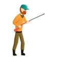 hunter take rifle icon cartoon style vector image vector image