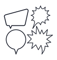 Icon set of bubbles Communication graphic vector image